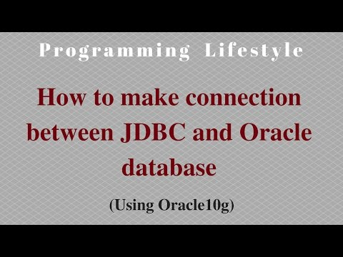 JAVA: How to make connection between JDBC and Oracle database(Using Type 4 Driver)