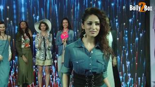 Yami Gautam In A Blue Dress Inaugurates Store Project Eve | Bolly2box
