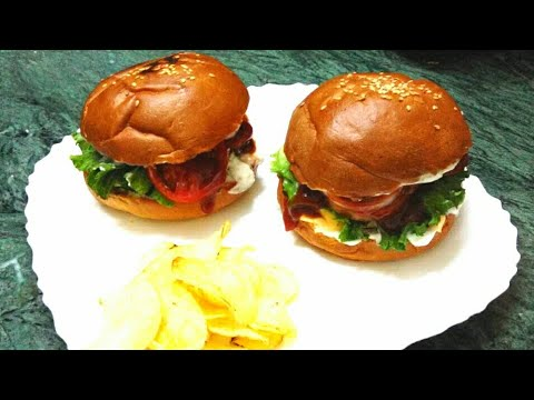 CHICKEN BURGER RECIPE | HOW TO MAKE EASY DELICIOUS CHICKEN BURGER PATTIES AT HOME *VAJIHA'S KITCHEN*