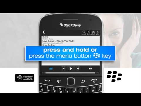 How to clear a list of songs in the music player on the Blackberry handset