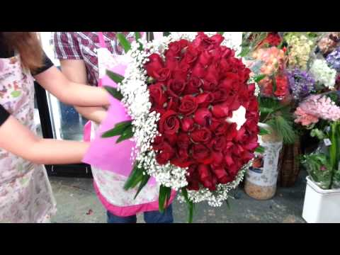 How to Make Roses Hand Bouquet | Singapore Florist