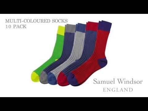 Multi-Coloured Socks 10 pack
