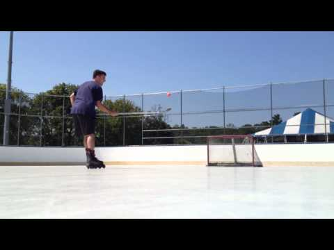 Hockey Ball Juggling to goal!  with Sher-wood Coffey blade