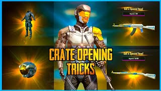Download CRATE OPENING TRICKS TO GET LEGENDARY ITEMS IN PUBG MOBILE ( PREMIUM CRATE OPENING ) Video