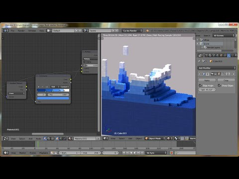 Blender Tutorial: Lego Fluid Effect