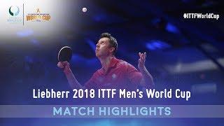 Fan Zhendong vs Vladimir Samsonov I 2018 ITTF Men's World Cup Highlights (1/4)
