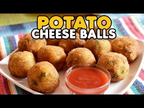 Potato Cheese Balls Recipe   How to Make Potato cheese balls   Yummy Nepali Kitchen