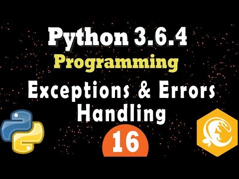 Python Exceptions Errors Handling - Try and Except in Python 3 Programming Tutorial