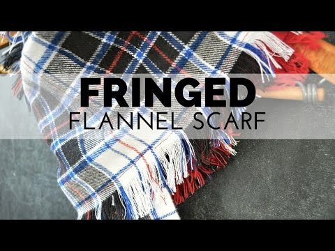 How to Make a Fringed Flannel Scarf