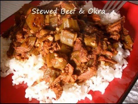 Belizean Stewed Beef & Okra/Okro