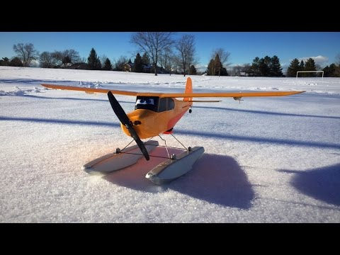 Hobbyzone Champ Crophopper 2S Brushless w/ Ailerons - Snow Floats Flight