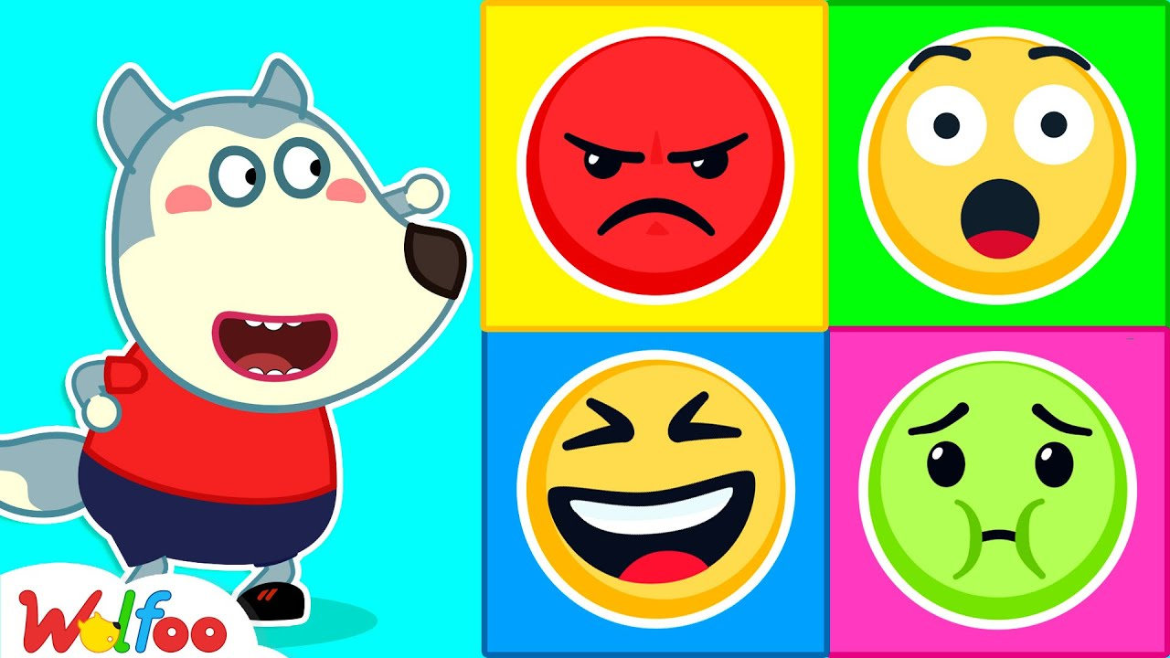 Wolfoo and Funny Stories for Kids About Emojis - Wolfoo Learns About Feelings   Wolfoo Channel
