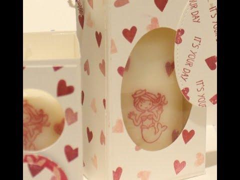 Custom Mermaid Candle and Hearts Gift Box