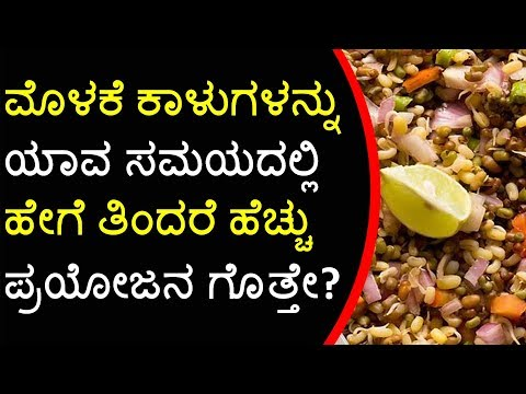 Sprouts Health Benefits in Kannada: ಮೊಳಕೆ ಕಾಳಿನಿಂದ  ಆರೋಗ್ಯ | Amazing Benefits of Sprouts