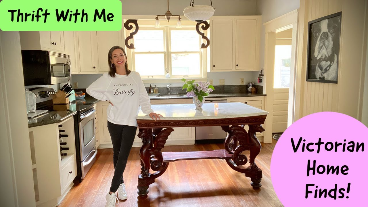 Shopping at Goodwill and Antique Stores for Home Decor - Thrift With Me