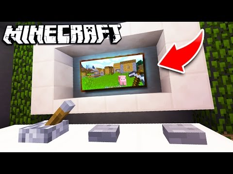 How to Make a WORKING TV in Minecraft!