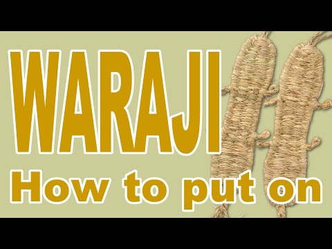 How to put on WARAJI (Straw Sandals) of Japanese Matsuri Festival Costumes
