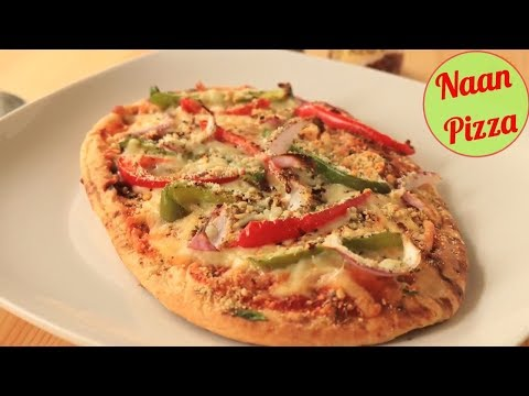 Naan Pizza - QUICK & HEALTHY Pizza Recipe without YEAST
