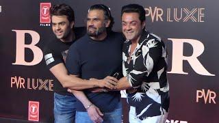 Bobby Deol And Suniel Shetty MASTI 😂😂😂 At #BHARAT Movie Grand Premiere