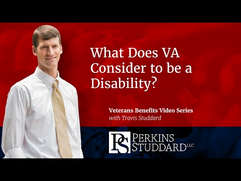 What Does VA Consider to be a Disability?