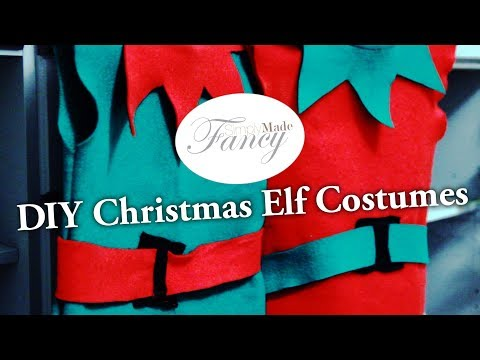 Simple DIY Christmas Elf Costume for the Kids