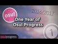 My one year of osu! progress (2016-2017)