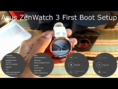 Asus ZenWatch 3 First Boot Setup and Customize [Hindi]