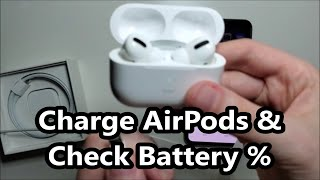 How to Charge AirPods Pro & Check Battery %!