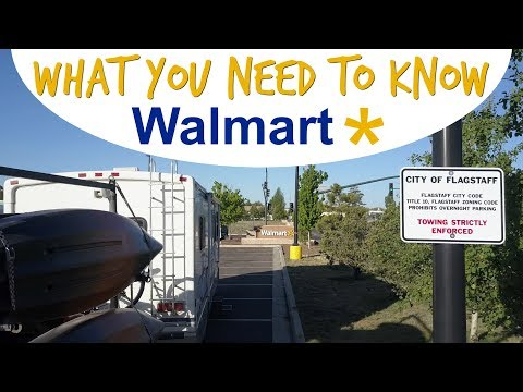 Guide to Overnight RV CAMPING at Walmart