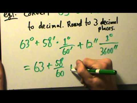 Trigonometry - Foundations - Degrees, Minutes, Seconds - Four Examples