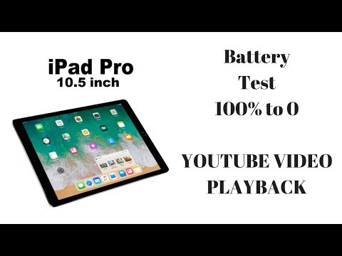iPad Pro 10.5 Battery Test