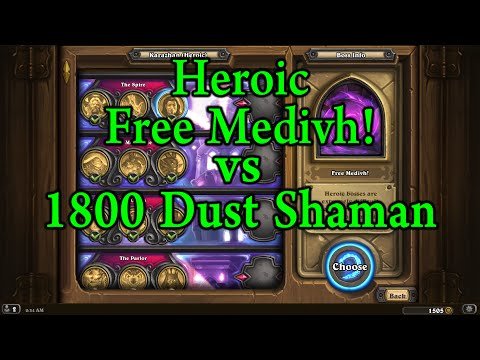 Hearthstone: Heroic Free Medivh! with 1800 Dust/Kel'Thuzad Shaman