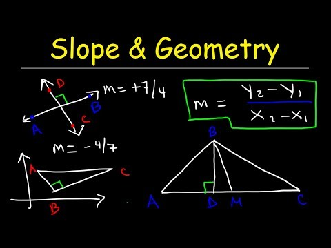 Finding Slope Given Two Points, Parallel & Perpendicular Lines, Altitude & Median, Geometry