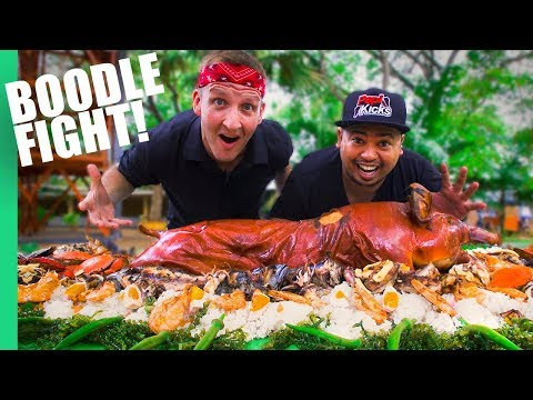 Epic BOODLE FIGHT! What $100 gets you in the Philippines