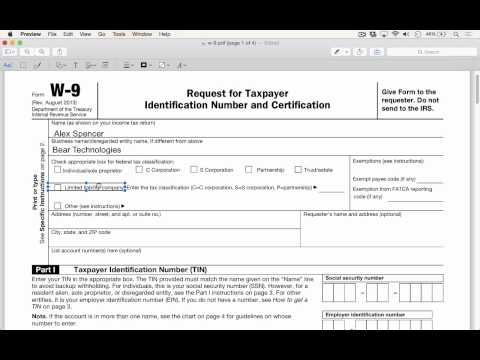 Filling Out and Signing Forms With Preview