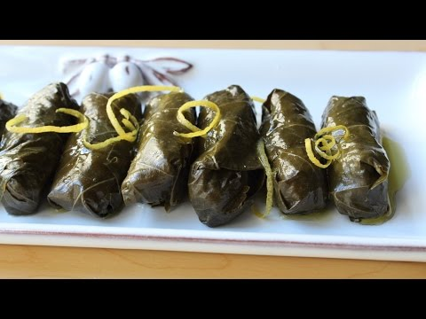 Lamb & Rice Stuffed Grape Leaves - How to Make Dolmas