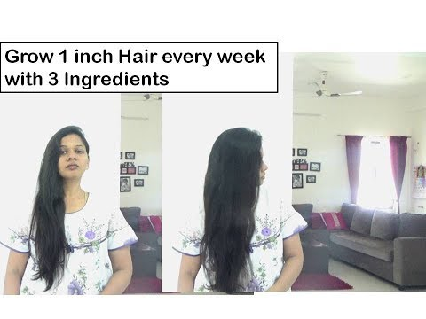 Grow 1 inch Hair in 1 week | Magic hair mask |Starnaturalbeauties