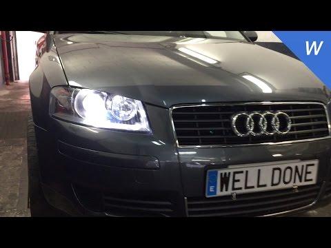 Audi A3 Xenon headlights installation