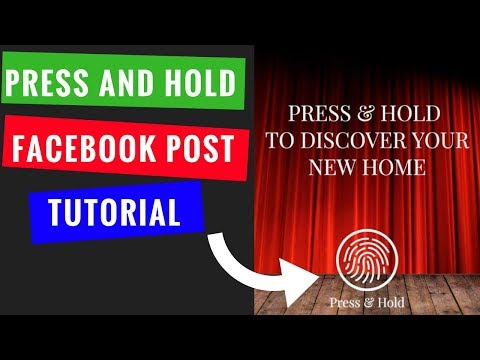 How to Make a Press and Hold Facebook Post (Live Photo Press and Hold)