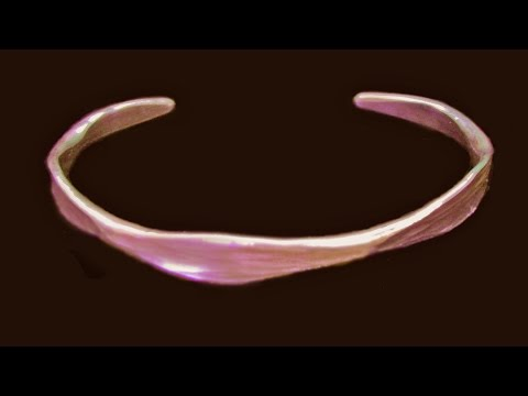 Forged Copper Bracelet Made From Hardware Store Grounding Wire