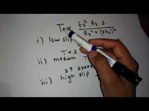 INDUCTION MOTOR  TORQUE SPEED CHARACTERISTICS