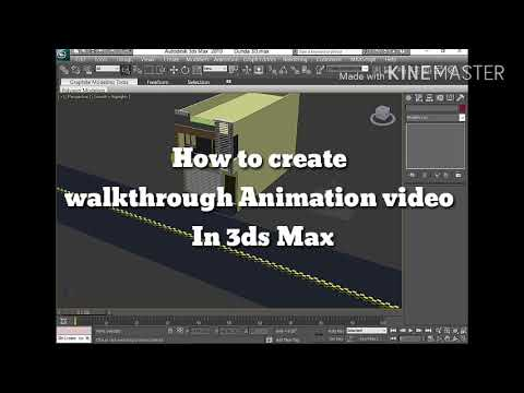 How to create walkthrough in 3ds max