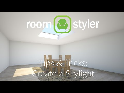 Roomstyler Tips And Tricks: Make a Skylight