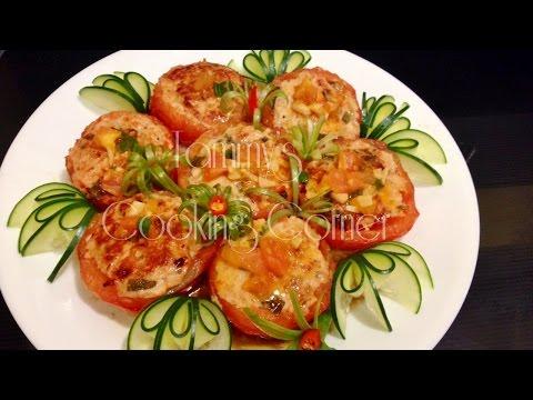 Ca Chua Don Thit - Stuffed Tomato (Cà Chua Dồn Thịt)