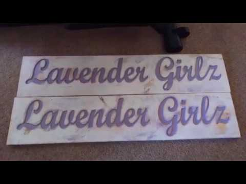 Custom large Distressed Wood Sign CNC Made Wood Signs
