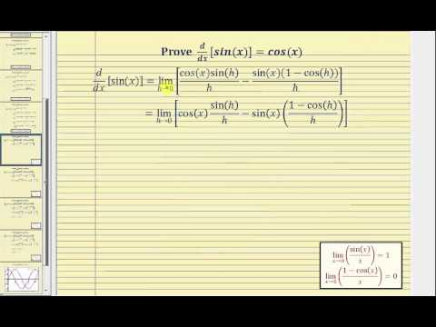 Proof - The Derivative of Sine:  d/dx[sin(x)]