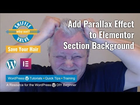 Elementor - Add Parallax Effect to Section Background