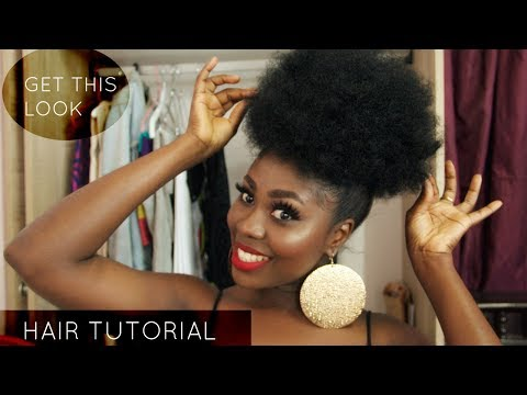 AFRO PUFF ON PERMED HAIR TUTORIAL | JES ISCAH