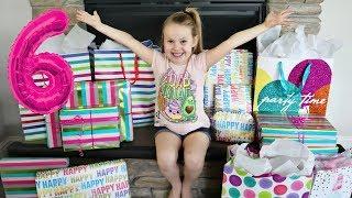 Birthday Morning Opening PRESENTS! | Gretchen's 6th Birthday!