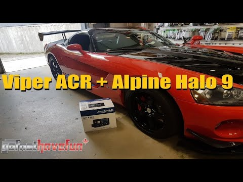 Builds: RARE Dodge Viper ACR, Installing Alpine Halo 9 with Apple CarPlay & Android Auto
